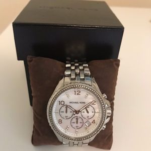 Michael Kors Silver Embellished Women's Watch